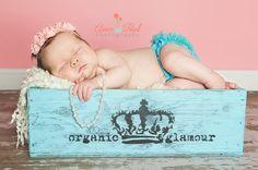 Newborn Photography - Vintage Box