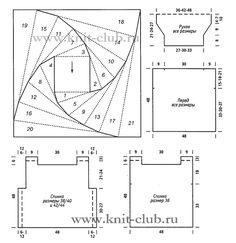 Dull gray or My Kaleidoscope Knitting Patterns, Crochet Patterns, Hobbies And Crafts, Missoni, Handicraft, Quilt Blocks, Needlework, Knitwear, Knit Crochet