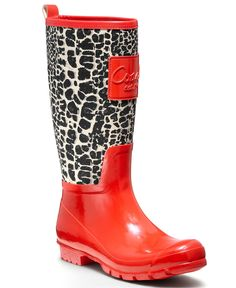 Oh my goodness!  These are SO cute!!!  COACH PEARL RAINBOOT - Winter & Rain Boots - Shoes - Macy's