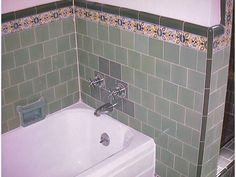 1930s bathroom with original tile