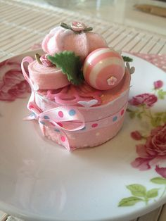 Hand made Sweet Pink Mini Cake by FeltCakeFactory on Etsy