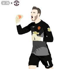 David De Gea from Manchester United #artdrista #vector #illustration #manchesterunited