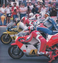 Roberts, Spencer, Mamola, Lawson, Fontan, Katayama - 1983 Silverstone