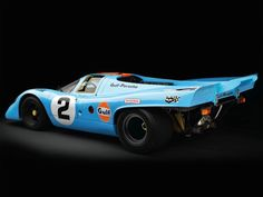 Porsche 917 from 1970  in the distinctive Gulf Oil livery  24 Hours of Le Mans WInner 1970 and 1971