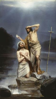The 1st Luminous Mystery: The Baptism of Jesus in the Jordan. (Carl Heinrich Bloch: Bautismo de Jesús)