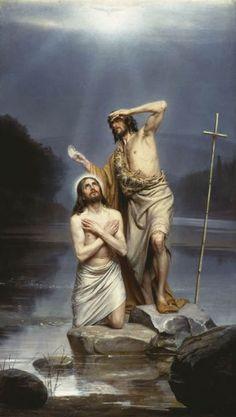 Carl Heinrich Bloch: Bautismo de Jesús.