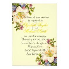 Luxury Spring Bouquet Floral Wedding Invite