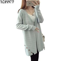 Knitted V-Neck Cardigan Sweater