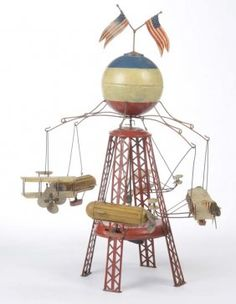 Mueller + Kadeder, Carousel around Germany pw, tin, clockwork ok, very nice original condition. on Mar 2014 Antique Toys, Vintage Toys, Steampunk Machines, Airplane Toys, Old Games, Tin Toys, Childhood Toys, Toy Boxes, Zeppelin
