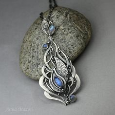 View from the Moon  openwork silver pendant with by drakonaria, $280.00