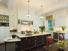 The Enchanted Home: The ultimate shout out to white kitchens.and a major giveaway! Kitchen Renovation Inspiration, Interior Inspiration, Black Kitchens, Cool Kitchens, Dream Kitchens, Enchanted Home, Kitchen Cabinet Colors, Transitional Kitchen, Creative Home