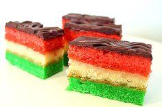 Vegan Italian Tri-Color Rainbow Cookies by The Veg Life!