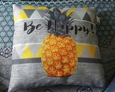 #coussin #ananas #pineapple #jauneetgris  #behappy