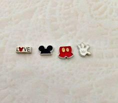 Floating charms Mickey inspired are $3 each Love Mickey  Mickey Ears  Mickey Pants  Mickey Hand