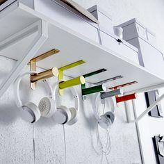 toilet roll holder as headphone holders