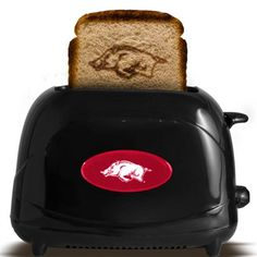 Arkansas Razorbacks Toaster...YES! It is something I want because not only is it cool...it is AWESOME!!!!!