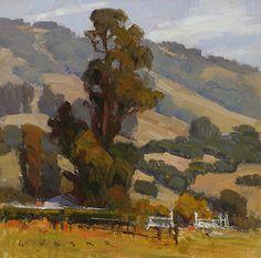 Petaluma Farm by Jim Wodark Oil ~ 12 x 12