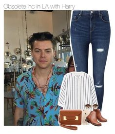 """""""Obsolete Inc in LA with Harry"""" by vane-abreu ❤ liked on Polyvore featuring Miss Selfridge, MANGO, Wet Seal, Ray-Ban and Sophie Hulme"""