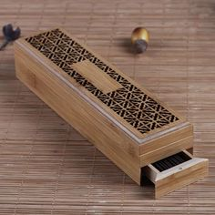 Compare Price Bamboo Incense Burner Incense Stick Holder With Drawer Joss-stick Box Hollow Aromatherapy Zen Lying Censer Home Office Teahouse Burning Incense, Incense Burner, Buy Bamboo, Can Lights, Incense Holder, Incense Sticks, Decoration, Feng Shui, Wood Art