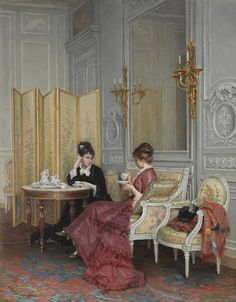 1888 Ladies at Tea by Moses Wight