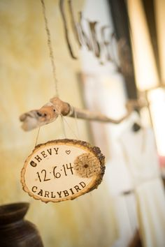 How cute!! View the full wedding here: http://thedailywedding.com/2015/12/18/eclectic-malibu-estate-wedding-carly-eric/