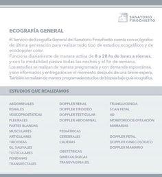 Servicio de Ecografia Sanatorio Finochietto Avda. Cordoba 2678 Tel: 3752-8000 Buenos Aires. Republica Argentina. Saludos. Atte. http://www.sanatoriofinochietto.com