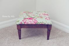 DIY: How to recover a stool or chair using a table napkin.