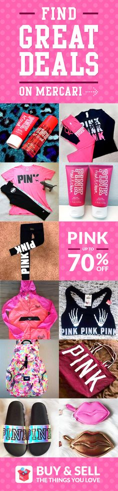 Get your PINK Victoria's Secret at low prices with Mercari app! Buy and sell new/used items like clothing, brand-name bags, shoes, cosmetics, jewelry, electronics, and more. Turn your old items into cash and find new treasures as well–straight from your mobile phone! Shop confidently with our Buyer Protection Guarantee. What are you waiting for? Start using Mercari today!