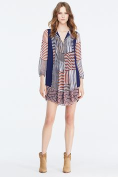 DVF Kailyn Chiffon Tunic Dress | Landing Pages by DVF
