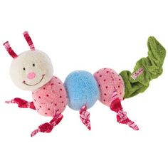 Sassy Baby Kid Child Attachable Rattles Crinkle ClanKing Fruit Apple Banana Toy