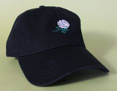 NEW Rose Dad Hat Baseball Cap low profile 100 % by BrainDazed New Black Color, Jordan Shoes Girls, Head Accessories, Dad Hats, I Dress, Bootie Boots, Dads, Unisex, My Style