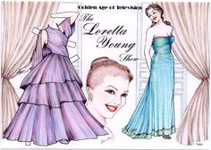 loretta young paper doll | Loretta Young Paper Doll Note Card