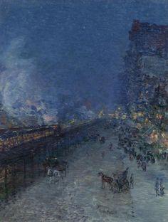 Frederick Childe Hassam - Night Train