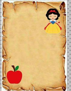 Que coisa mais fofa! 1st Birthday Girls, First Birthday Parties, Text Frame, Snow White Birthday, Snow White Disney, Prince Party, Disney Princess Cinderella, Happy Eid, Disney Crafts