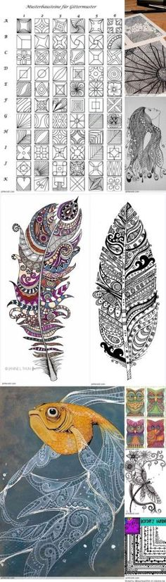Zentangle Patterns by paige