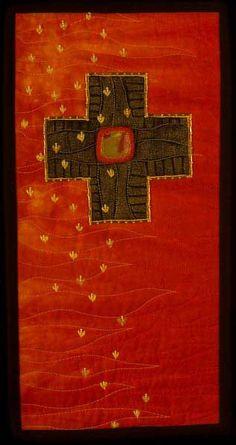 Cross Roads VII:  Day of Pentecost by Larkin Jean Van Horn