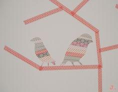 Le petit monde de J.: Décorer un mur au masking tape