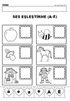SES EŞLEŞTİRME  #okulöncesi Kindergarten, Credit Card Application, Skin Structure, Skin Spots, Van Gogh Museum, Education Architecture, Preschool Activities, Vulnerability, Alphabet