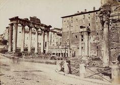 Foro Romano – Tempio di Saturno Anno: 1860 ca.