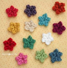Teeny Tiny Crochet Stars - free crochet tutorial by Repeat Crafter Me