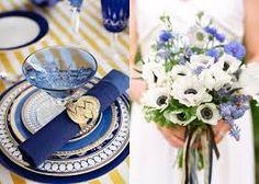 Resultado de imagem para casamento decoração branco azul marinho