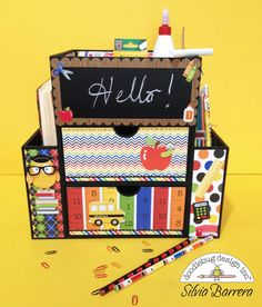 Doodlebug Design Inc Blog: Back to School Organizer by Silvia- A Perfect Gift for Teacher