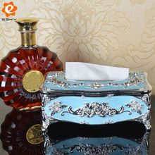European Style Home Car Acrylic Tissue Box Container Rose Napkin Paper Holder Case Removable Tissue Storage Boxes Napkin Box(China)