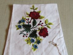 Red Roses/Blue Flowers by AWondrousPlace on Etsy
