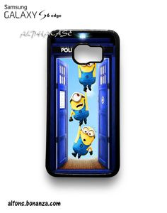 Tardis Dr Who Door Minion Hanging Samsung Galaxy S6 EDGE Case