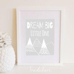 Dream Big Little One Print Instant Digital Download by TradeFare