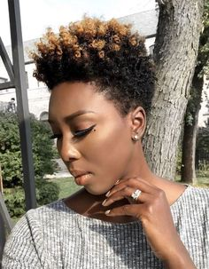 40 cute tapered natural hairstyles for afro hair tapered natural hair is perfect for women who want a short style with options long sections throughout the Tapered Natural Hair, Pelo Natural, Natural Curls, Short Natural Haircuts, Natural Short Cuts, Curly Hair Styles, Natural Hair Styles, Luscious Hair, My Hairstyle