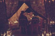 intimate dinner in the cutest of tents! photo by TheGemmers.com