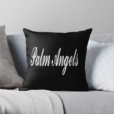 Palm Angels black pillow