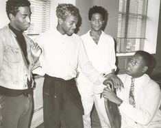 AMAZING! Jean-Michel Basquiat, Andre Leon Talley and Friends. Photo by Andy Warhol.